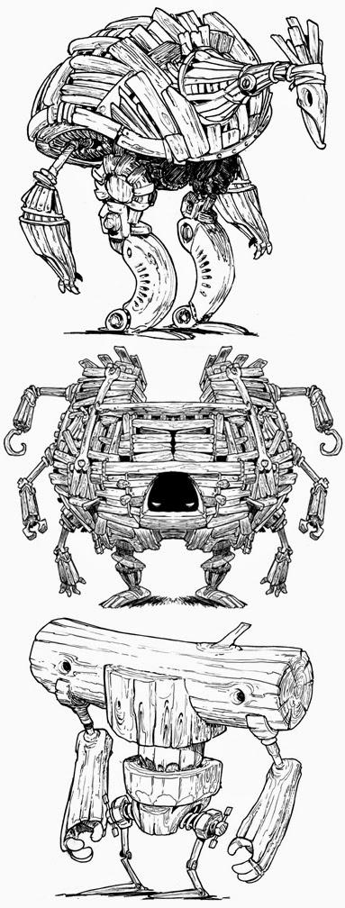etherington ROBOT CONCEPTS ART by Lorenzo Etherington 3